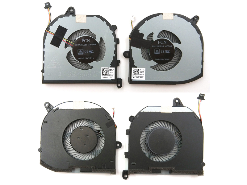 Genuine CPU + GPU Fan for Dell XPS 15 9570 Series Laptop