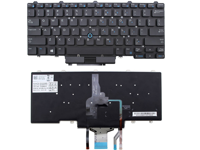 New Genuine D19TR Dell Latitude E5450 E7450 US Keyboard W// Backlit and Pointer