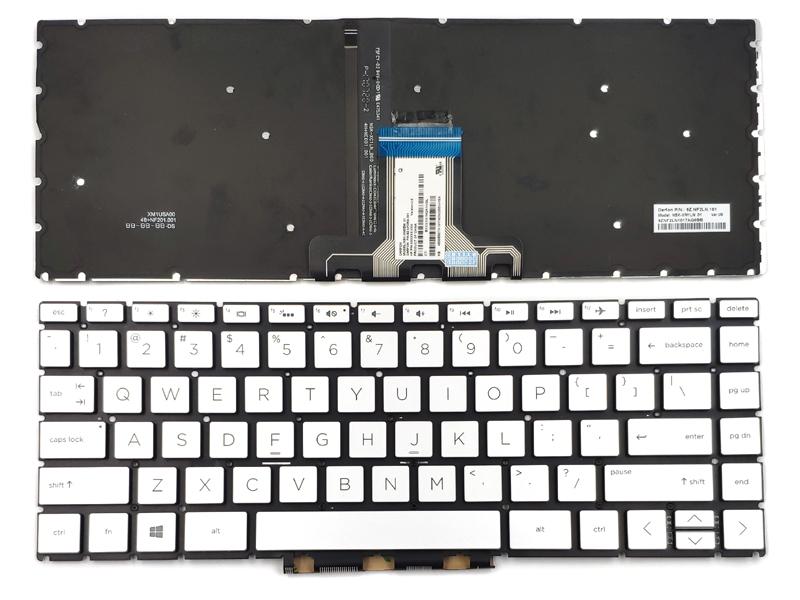 Genuine Silver Backlit Keyboard for HP Pavilion X360 14-CD