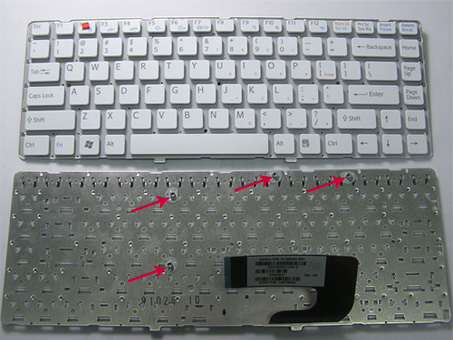 Sony Vaio VPC-S115FG Sony Vaio VPC-S115EC Sony Vaio VPC-S117GG Keyboards4Laptops UK Layout Pink Frame White Laptop Keyboard Compatible with Sony Vaio VPC-S111FM//S Sony Vaio VPC-S117GGB